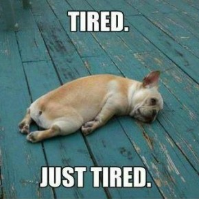 Tired. Just tired.