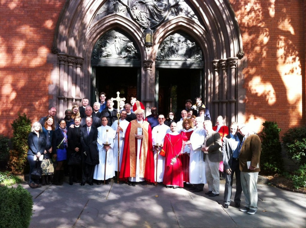 Attendees and Participants at the Lutheran High Mass, October 24. Taken by General Alumni.