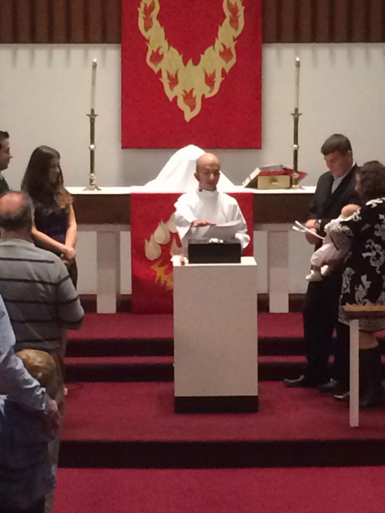 Pastor Marc presiding