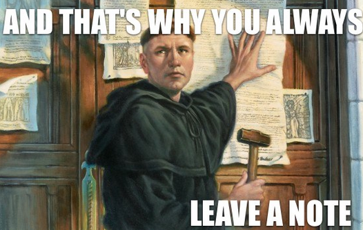 Re-what? a sermon on Reformation Sunday about Jesus and former believers.